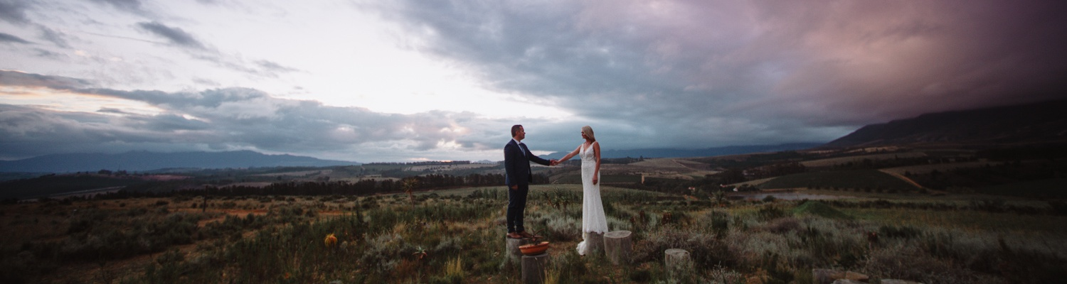 Glamping wedding in Elgin Valley
